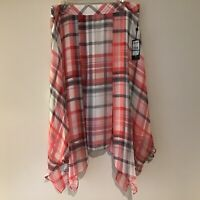 Skirt 16 Pink/White/Gray Plaid NWT Tommy Hilfiger Handkerchief Hem