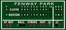 2.5' X 5.5' Green monster Boston decor, Fenway Park, Green Monster score board