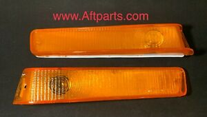 FORD F-150 250 350 Bronco 78 - 79 AMBER FRONT TURN SIGNALS LED Built In RARE