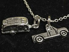 "Big RV Trailer with Truck Charm Tibetan Silver 18"" Necklace BIN"