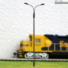 10 x OO / HO Scale Model Train Lamps Railroad Lamp posts Led Street Lights QD115
