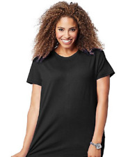 New Just My Size Rayon Poly. Blend Jersey Crew Neck Neck Tee Black 4X