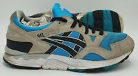 Asics Gel-Lyte V Suede/Nylon Trainers H435L Grey/Atomic Blue UK7/US8/EU40.5