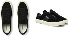 TOM FORD CAMBRIDGE LEATHER-TRIMMED VELVET SNEAKERS SCHUHE SHOES TRAINERS 44