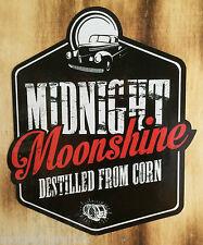 Oldschool Sticker Aufkleber Midnight Moonshiners Whiskey Moonshine USA Destille