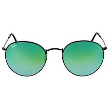 Ray Ban Round Green Gradient Flash Sunglasses