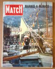 Paris Match n°367  21/04/1956  Mariage à Monaco