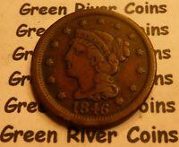 1846  Large Cent   #L46 better grade