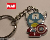Marvel Comics Captain America Scottie Young style  Full metal Key chain cosplay