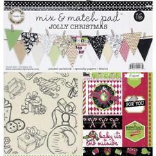 Canvas Home basics - Mix & match pad -  Jolly Christmas Cardstock & fabric