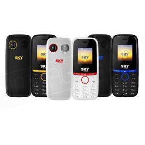 SKY Energy Feature Phone GSM 2G Factory Unlocked Smartphone Dual SIM 1800mAh New