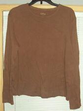 Juniors Misses Brown Long Sleeve Shirt Top Size S