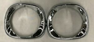MITSUBISHI LA LB LANCER 1977 - 1979 HEADLIGHT HEADLAMP COVERS SURROUNDS PAIR 2PC