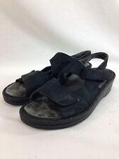 4b74a50a2d7 Mephisto Sandals Shoes Womens EU 39 Black Slip On Open Toe Comfort Portugal