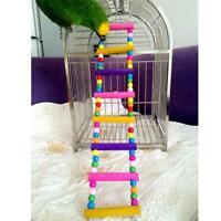 Wooden Pet Bird Parrot Swing Bridge Ladder Climb Cockatiel Parakeet Budgie Toy