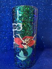 20 Oz Double insulated Stainless Steel glittered tumbler W/lid Sunshine