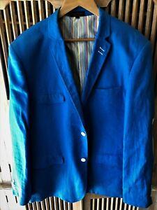 Men's 'Bruno Conte' blue linen blazer - size L (plus free 2nd blazer)