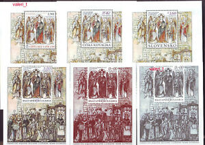 2013 Bulgaria Joint issue St.Cyril & Methodius Czech Rep.Slovakia, Vatican 6xS/S