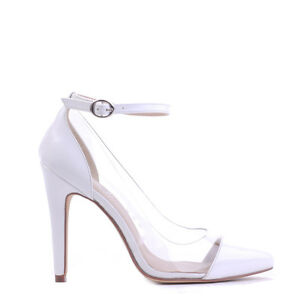 """WOMEN SHOES""""EDEN""""BY VERALI STUNNING HIGH HEEL PUMPS IN WHITE PATENT PU 5to10"""