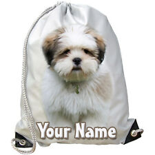 Lhasa Apso Dog / Puppy Personalised Gym / Swimming / Pe/ Dance Bag -Gift & Named