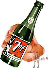 """(7UP-406) 12"""" """"7UP AND HAND"""" COCA COLA PEPSI COOLER POP DECAL"""