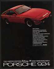 1979 Red PORSCHE Limited Edition 924 SEBRING Sports Car VINTAGE AD