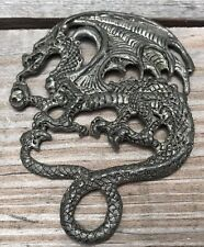 Retired 1998 Fellowship Foundry Dragon Pewter? Signed Emblem