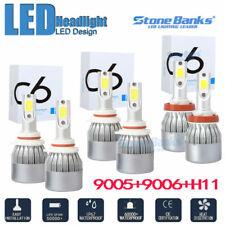 Combo 9005 + H11 + 9006 300W 60000LM COB LED Headlight Kit Hi Low Beam 6000K