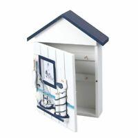 Key Locker Case Wooden Storage Box Mediterranean Creative House Wall Decorations