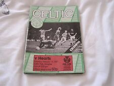 Celtic v hearts programme - sat 14th feb 1987