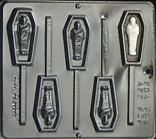 Coffin with Mummy Lollipop Chocolate Candy Mold Halloween  929 NEW
