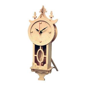Wall Clock: Wood Craft Assembly Wooden Construction Clock Kit