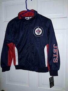 Winnipeg Jets Hockey  NHL Canada track Jacket athletic gear coat NEW - Youth S