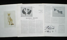 MAURICE CHARLES JOHN WILSON ANIMAL PAINTER ARTIST 3pp ARTICLE 1941