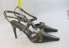 Michael ANTONIO NERO 11.4Cm tacco alto punta a cinturino alla caviglia scarpe