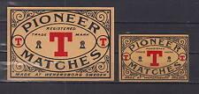 Ancienne étiquette de paquet allumettes Suède AZ4300 Pioneer T