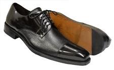ab187ec81e Mezlan Handmade Spain Soka 15089 Black Lace Up Derby Cap Toe Calfskin Deer  Shoes