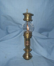Vintage Brass - 'White Star line' - Candle burning Carriage Lamp