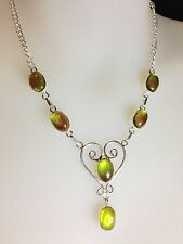 925 Sterling Silver Overlay Mystic Topaz Necklace