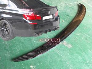 Carbon BMW 11~16 F10 5-series Sedan High Kick Performance type trunk spoiler ●