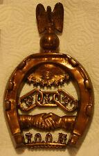 Rare IOOF (Independent Order of Odd Fellows) Brass or Bronze Trivet
