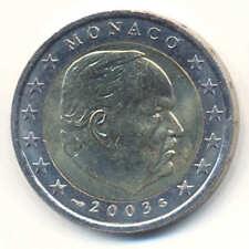 2 Euro Kursmünze Monaco 2003 Fürst Rainier III - original bankfrisch -  rar -
