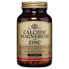 Solgar Calcium Magnesium Plus Zinc 100 Tabs FREE Shipping Made in USA FRESH