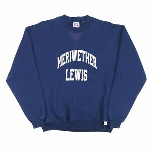 RUSSELL ATHLETIC Meriwether Lewis Blue American Round Neck Sweatshirt Boys XL