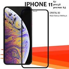 """Iphone 11 5,8"""" 6,1"""" y 6,5"""" PRO MAX protector cristal vidrio templado completo"""