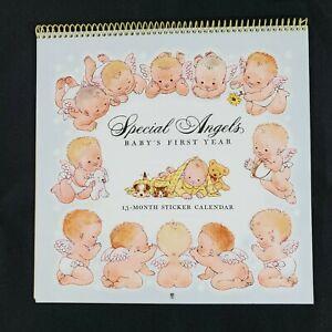 Hallmark Baby First Year Calendar  Vintage Milestone Stickers New Unused 9.5x9.5