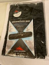 HIGH SIERRA Snowboard Bag Black UP TO 170 Cm Sz. 67x12.5x6.5 Duralite New SEALED