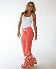 Pink Salmon foldover waist Pants with chevron designs Small