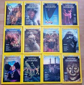 National Geographic 1978 english komplett Sammlung 1-12 Zeitschrift Hefte maps