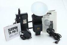 Sunpak Auto 120J bare bulb flash w/Tri-Pak II[weak batt]- bulb tested 389808